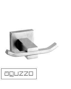 Aguzzo Quadro Stainless Steel Robe Hook - Double