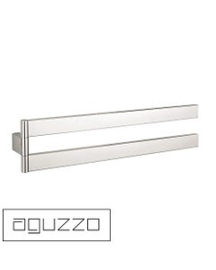 Montangna Towel Rail - Double Bars - Movable - Stainless Steel - Luxury Chrome