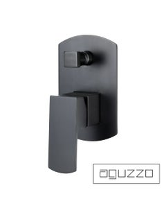 Matte Black - Terrus Shower Mixer with Diverter - Wall Mounted
