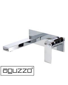 prato wall mounted basin spout set chrome with chrome handle