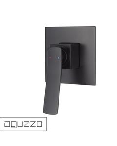 Matte Black Shower Wall Mixer - Aguzzo Cortina