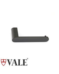 fluid matte black toilet roll holder without cover