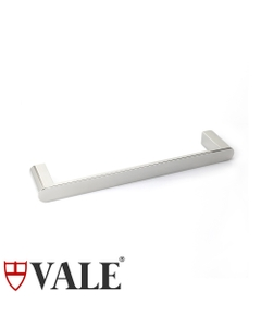 fluid polished stainless steel hand towel holder