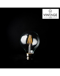 Vintage LED Light Globe - G80 - 6W Bayonet Smokey- Dimmable