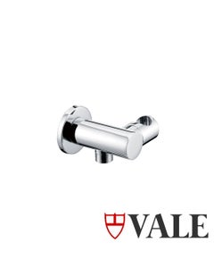 Vale Bathroom Hand Shower Holder - Round - With integrated Inlet allowing you  only one fixing instead of two