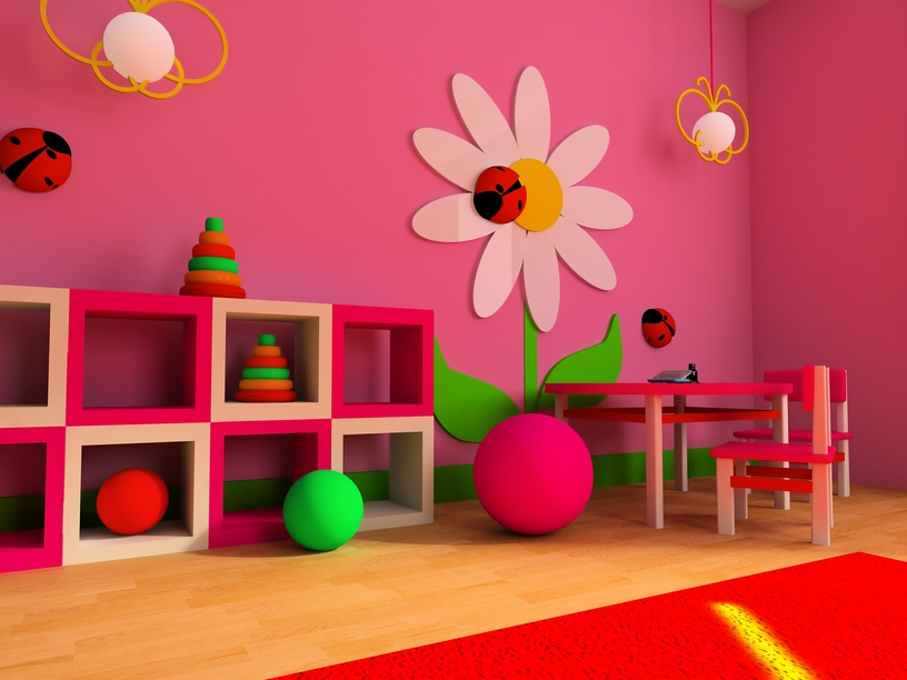 Pink playroom