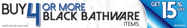 matte black bathware sale