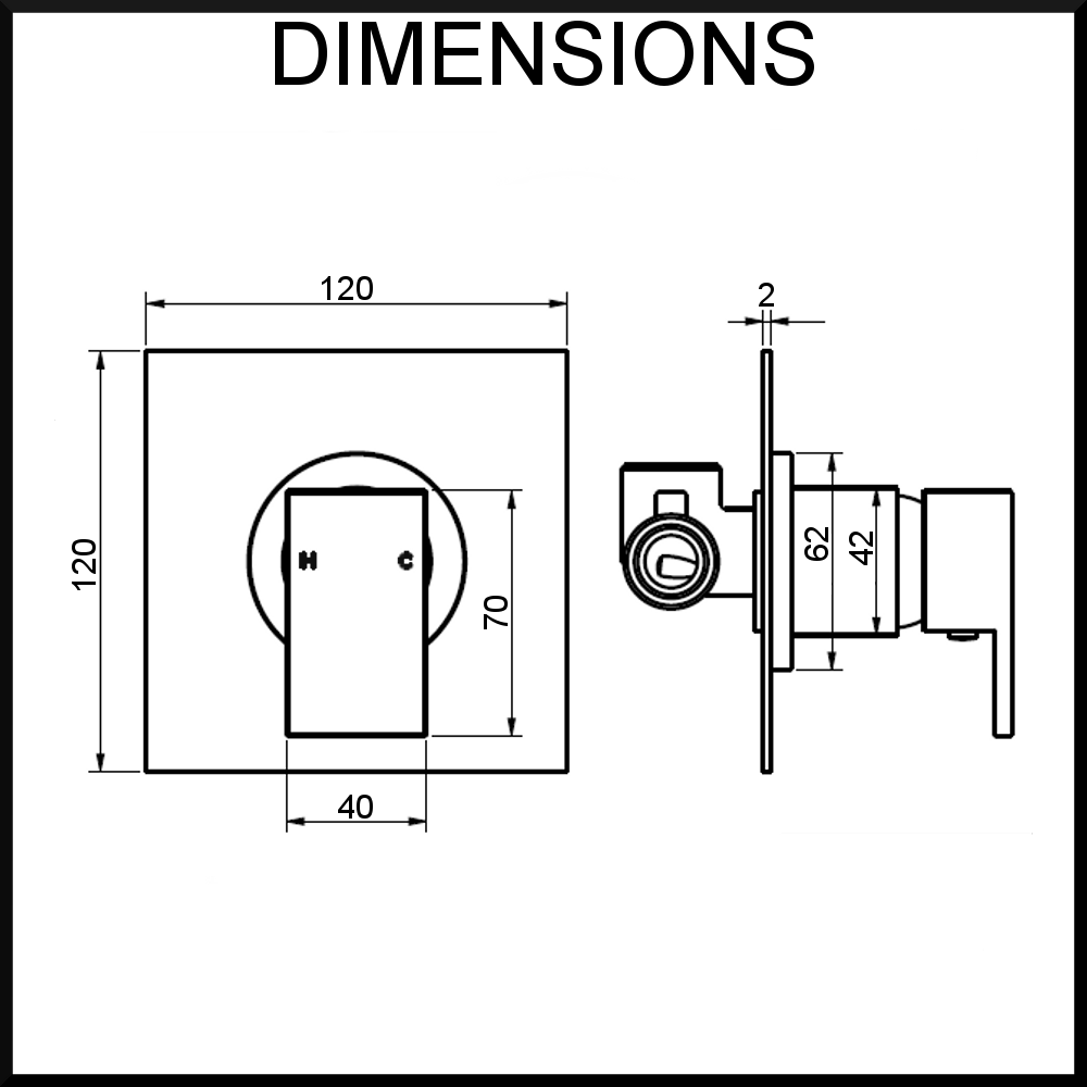 Quadro-Shower-Mixer-Dimensions