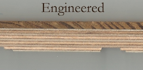 engineered oak flooring cross section