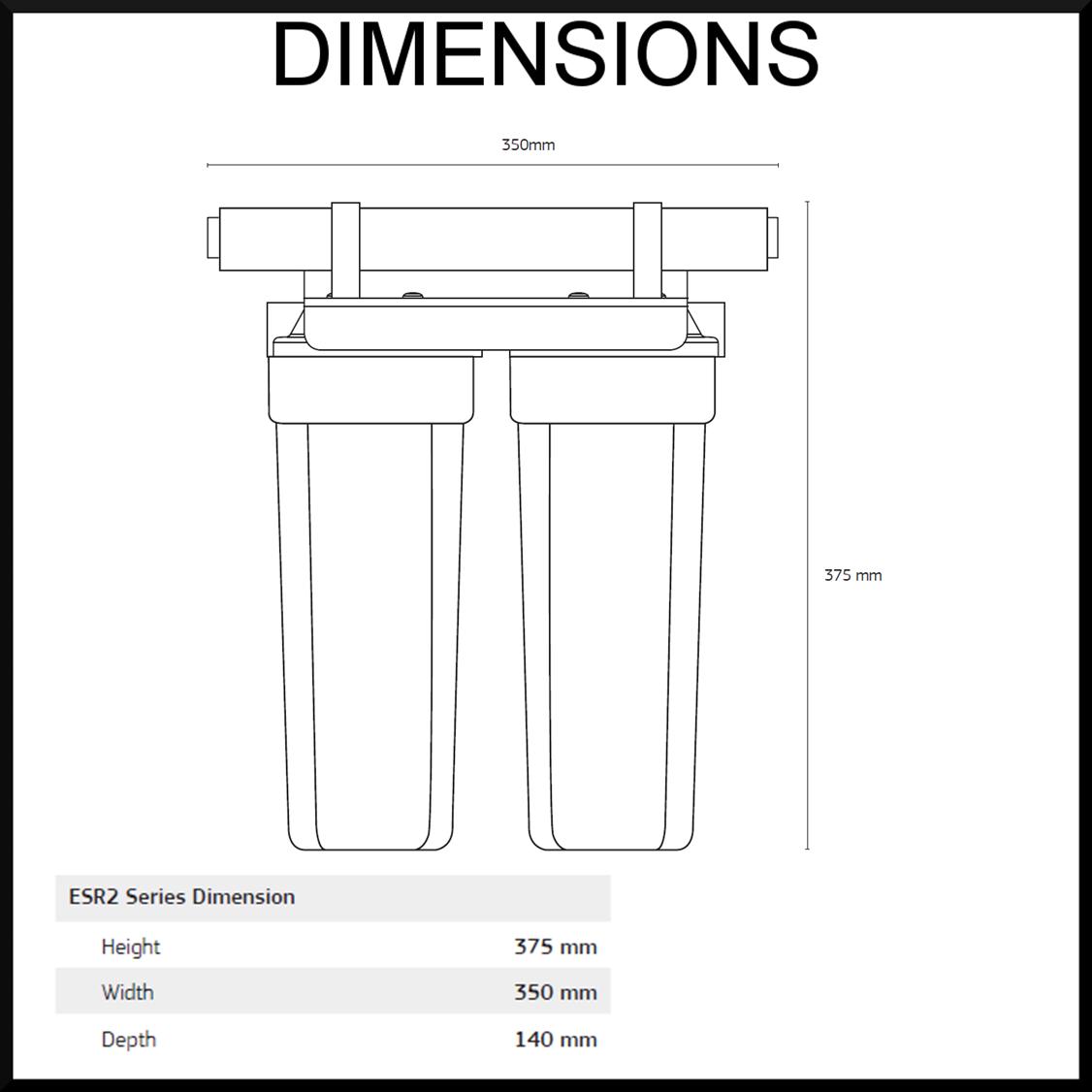 Under sink rain water filter unit - ESR2 Puretec