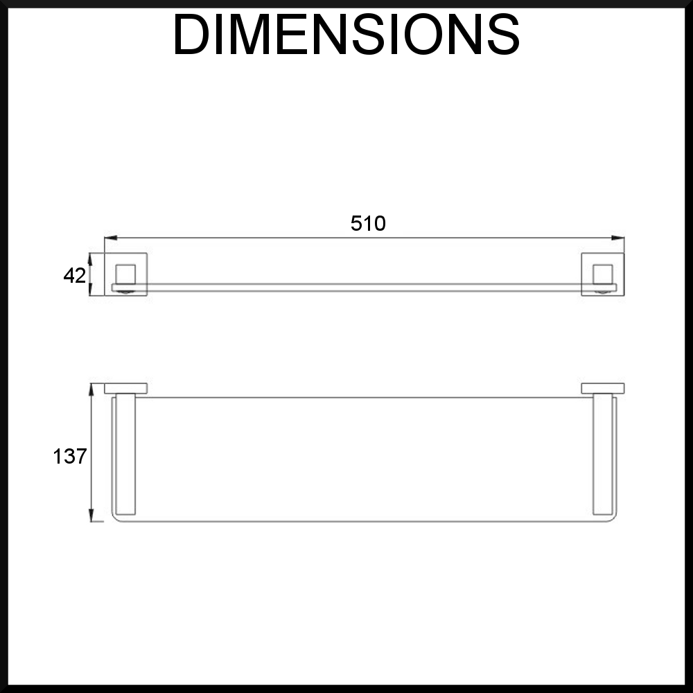Quadro-glass-shelf-dimensions