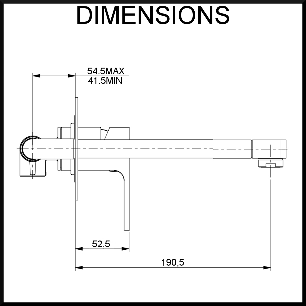 diagram terrus single lever mixer and spout wall mounted 2