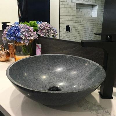 bathroom ideas for basins in granite, natural granite basin, stone bathroom basin