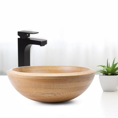american oak bathroom sink basins and wood sink options for bathrooms