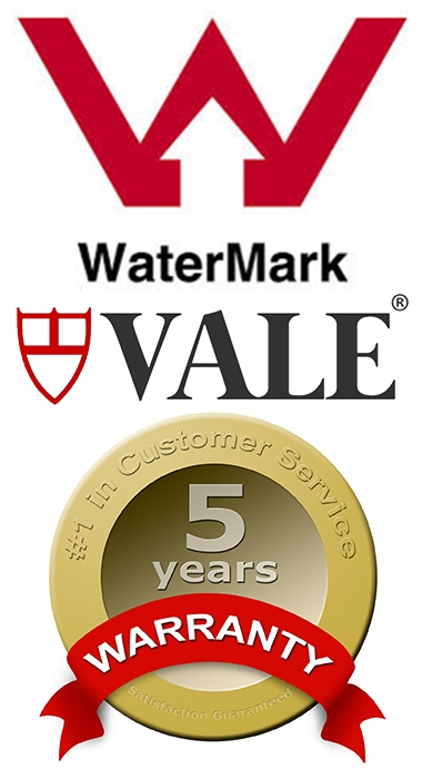 Vale Bathroom Range with 5 Year Warranty