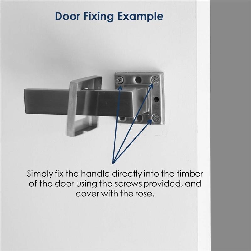 Zara Dummy Door lever handle set