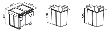Pull-out Bin Dimensions