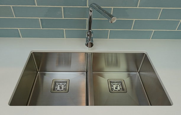 undermount and top mount 1.5mm thick stainless steel square kitchen sinks, oliveri, franke, clark, blanco, bunnings