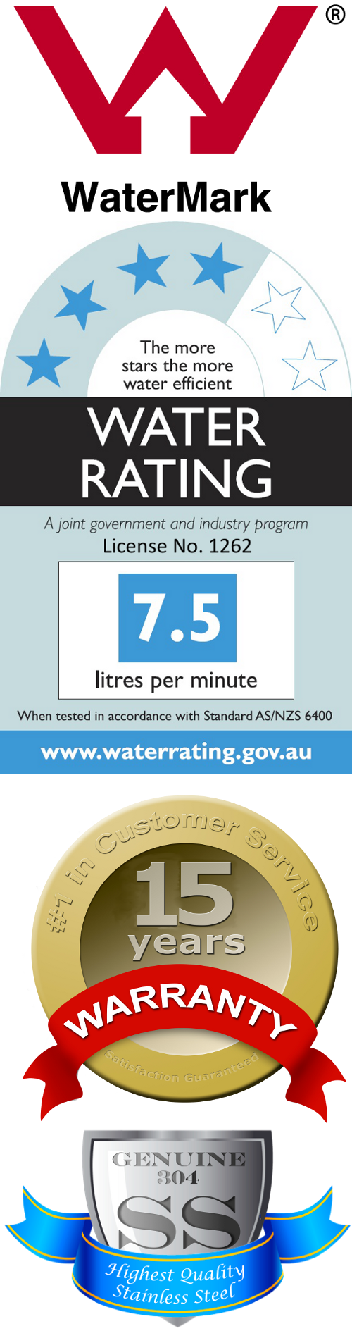 Australian Watermark Certified, 4-Star Water Rating