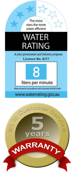 Australian Watermark Certified, 3-Star Water Rating