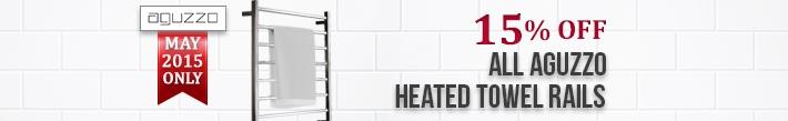 15% OFF All Aguzzo heated towel rail