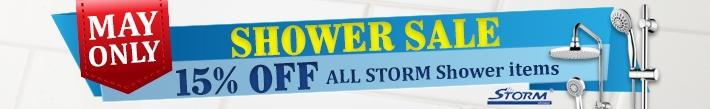 Shower Sale - 15% OFF All Storm Shower