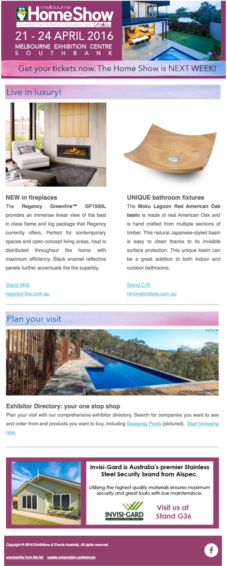 Wooden basin - HIA home show featured product