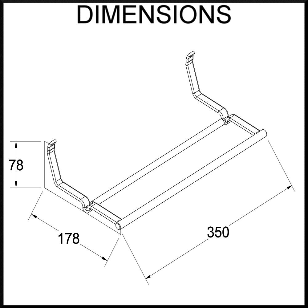 papertowel holder dimensions