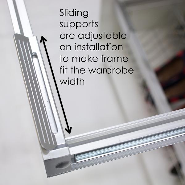 Innovative adjustable wardrobe storage frame