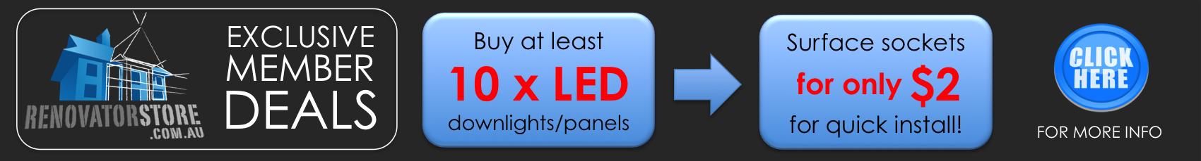 led downlight installation plug