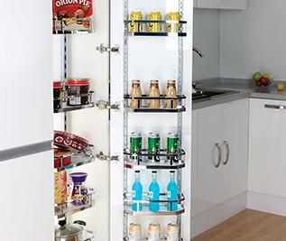 concealed kitchen waste bin, wardrobe storage solutions, modern kitchen storage