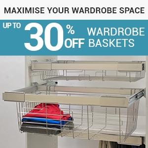 wardrobe storage, wardrobe baskets, home storage, storage solutions