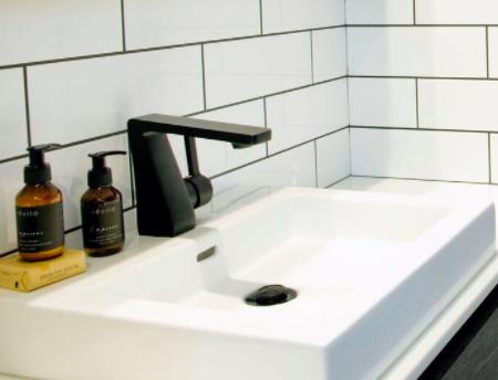 stylish matte black tap